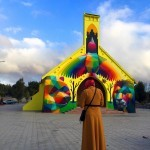 """""""11 Mirages to the Freedom"""" by Okuda in Youssoufia, Morocco"""