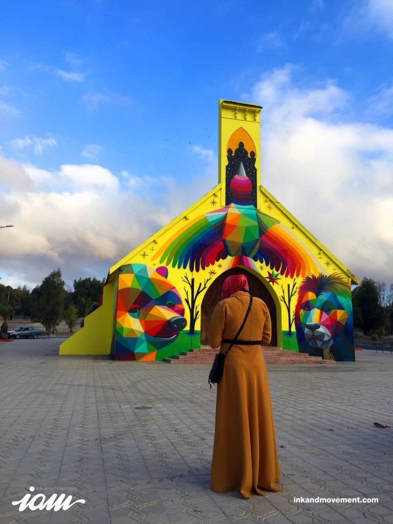 """11 Mirages to the Freedom"" by Okuda in Youssoufia, Morocco"