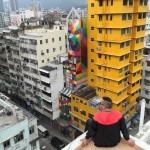 Okuda on the streets of Hong-Kong