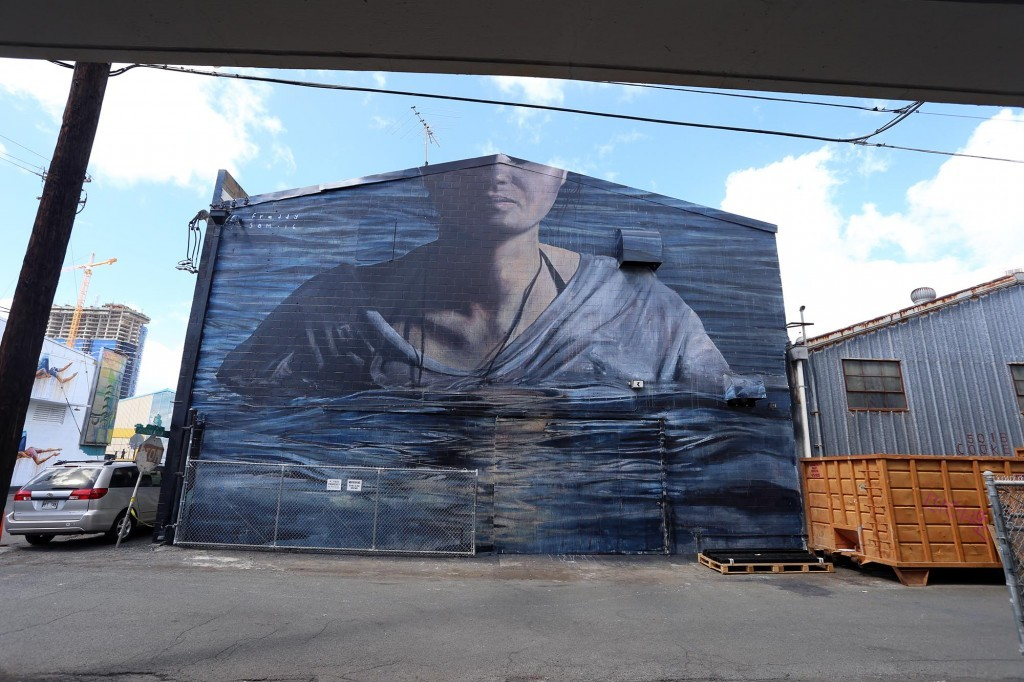 "POW! WOW! Hawaii: ""Ocean Poet"" by Ricky Lee Gordon in Honolulu"