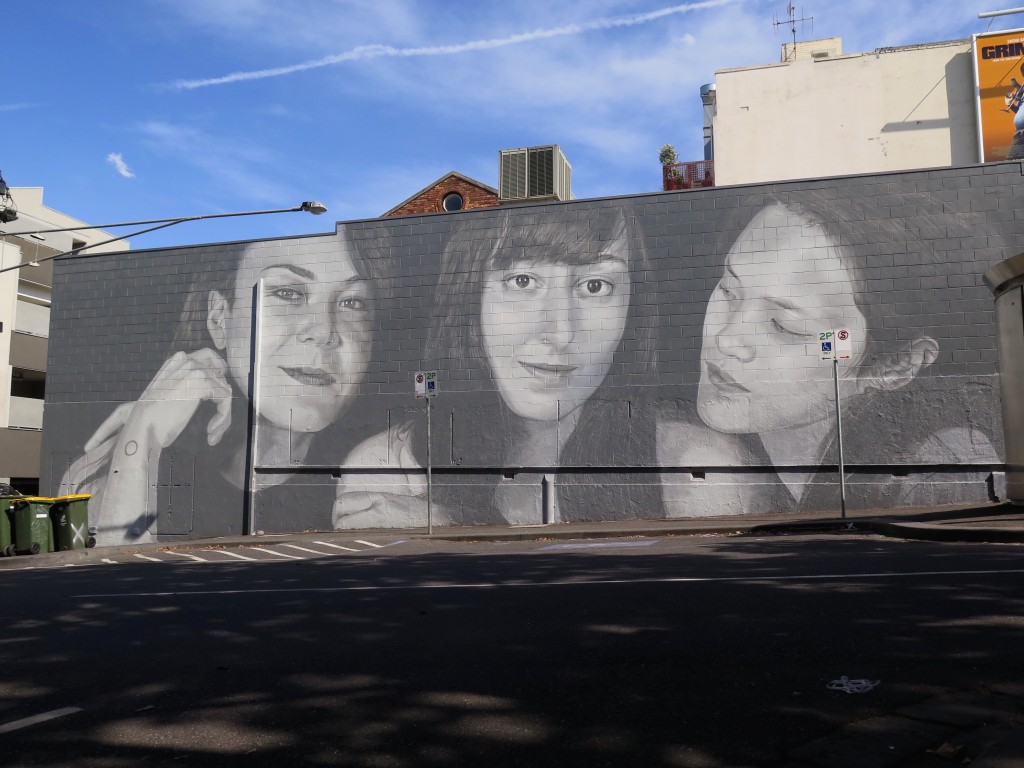 """Miso, Bianca & Hana"" by Rone in Melbourne, Australia"
