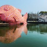 """Floating Fish"" an installation by Florentijn Hofman in China"