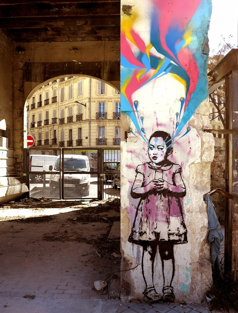 """Young Girl"" by Stinkfish in Marseille, France"