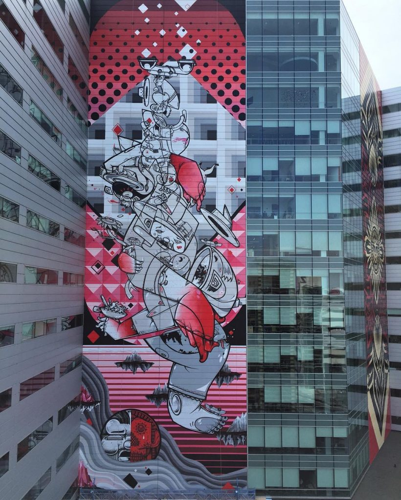 """Balancing Act"" by How & Nosm in Detroit"