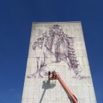 The Crystal Ship: Work In Progress by Fintan Magee in Oostende, Belgium
