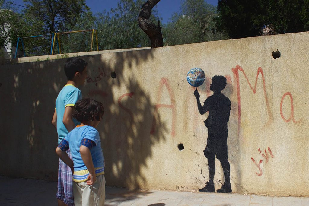 Pejac in Azraq Camp and Amman, Jordan