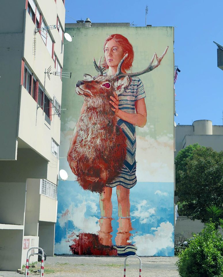 """""""The Roadkill"""" by Fintan Magee in Rome, Italy"""