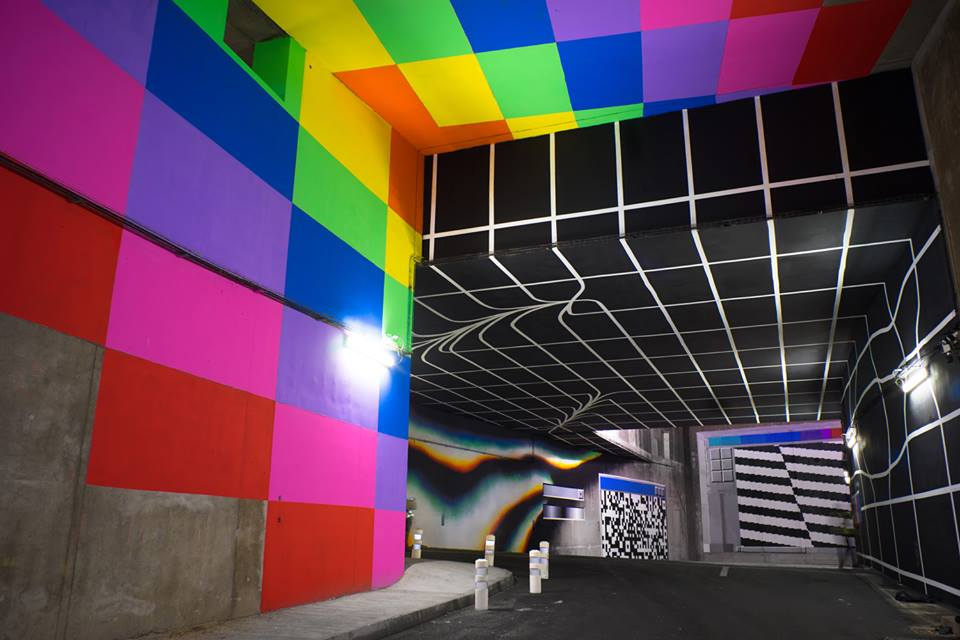 """Data Somersault"" by Felipe Pantone in Paris"