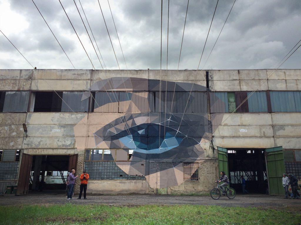 """Gaze"" an installation by STFNV in Tbilisi, Georgia"