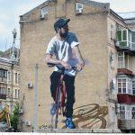 """""""Red Bicycle"""" by Jarus in Kiev, Ukraine"""