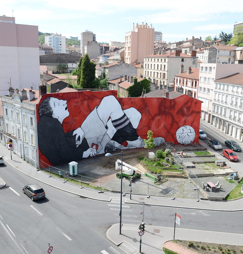 """The Kick To The Moon"" by Ella & Pitr in Saint-Etienne"