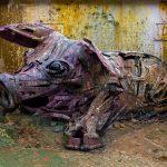 """Pig"" by Bordalo II in Lisbon, Portugal"