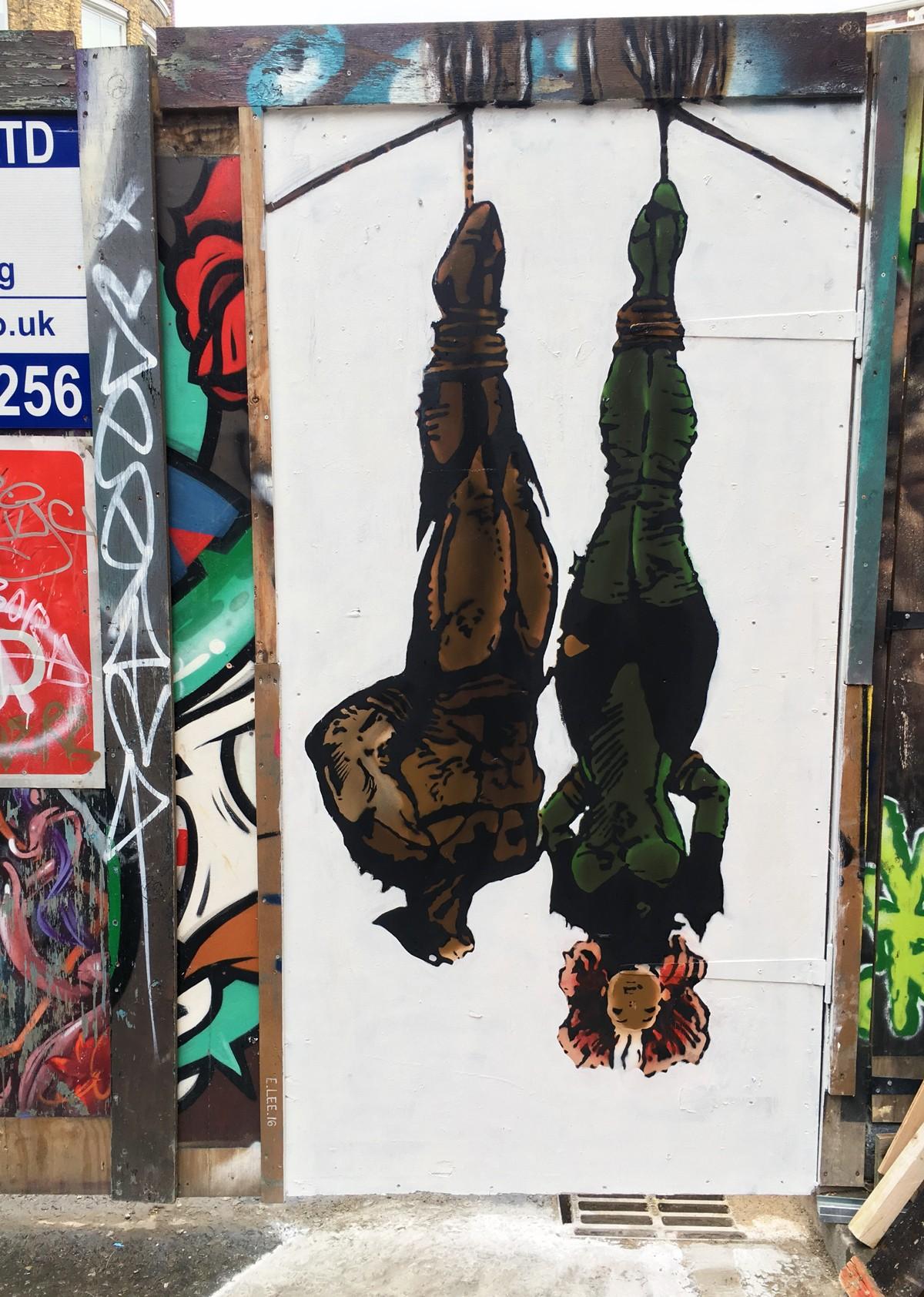 Shoreditch Street Art: E. Lee In Shoreditch, London