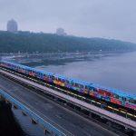 Kenor Paints a Whole Train in Kiev, Ukraine