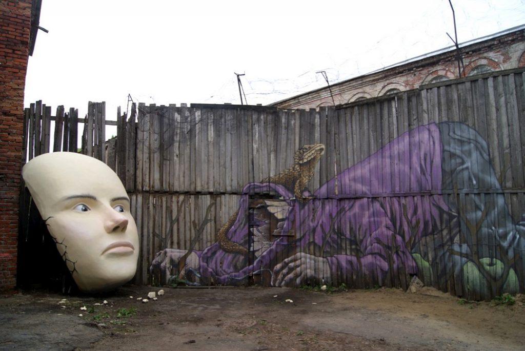 Rustam Qbic & Igou One New Wall in Kazan, Tatarstan