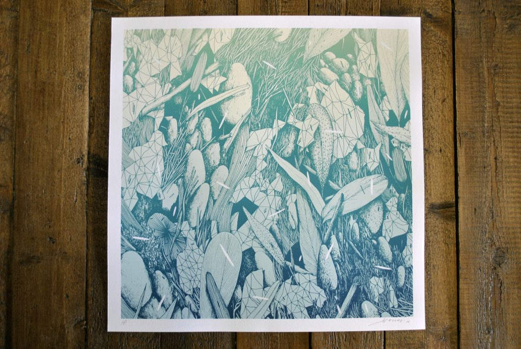 """Tellas """"Under The City"""" Limited Edition Hand Finished Screen Print – May 26th"""