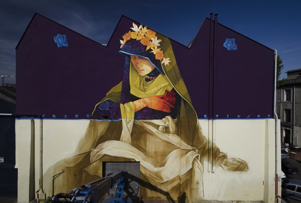 """La Madre Secular"" by INTI in Marseille, France"