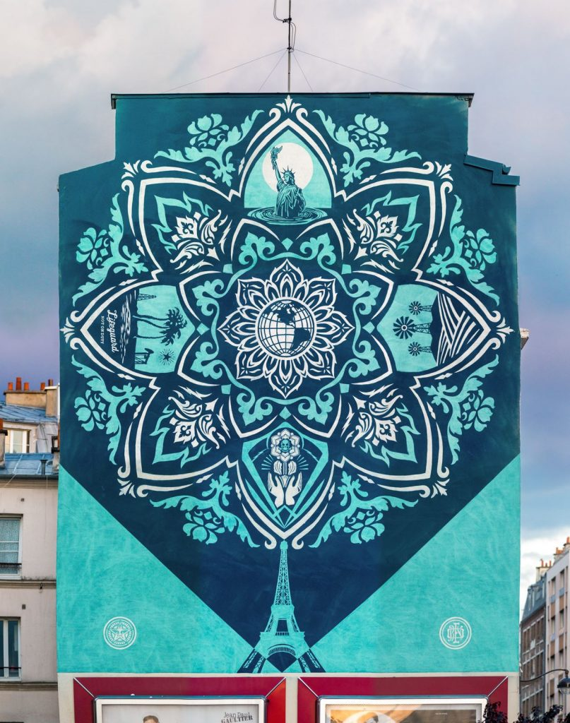 """Earth Crisis"" by Shepard Fairey in Paris"