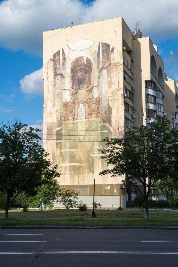 """Saint Sofia Cathedral"" by Borondo in Kiev"