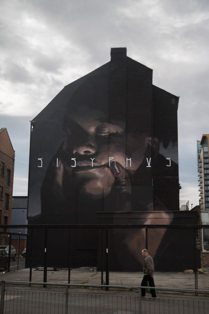 """Sisyphus"" by Axel Void in Manchester, UK"