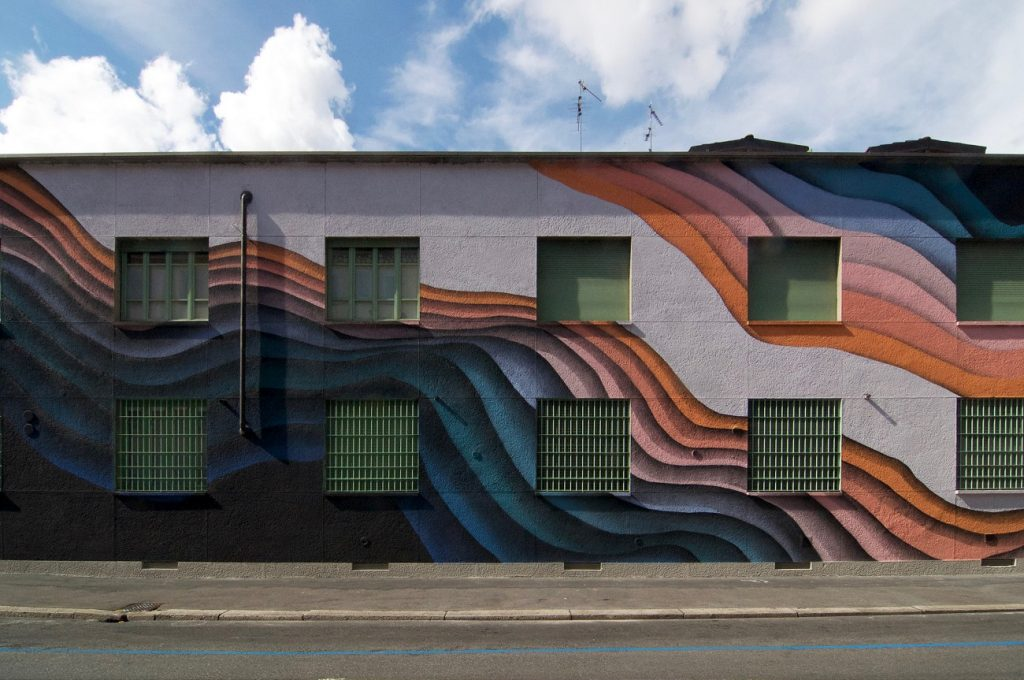 1010 Paints a New Massive Mural in Milan
