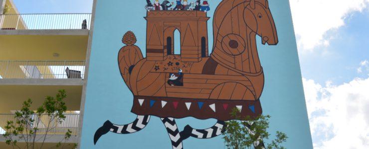 HONET new mural in Toulouse for the Rose Beton Festival