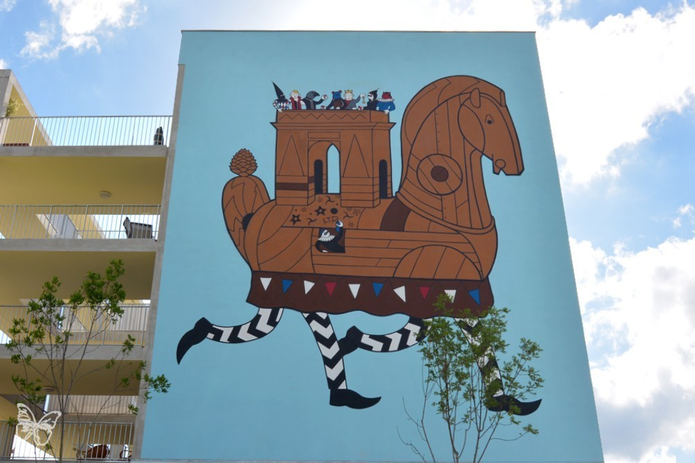HONET new mural in Toulouse for the Rose Beton Festival