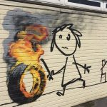 Banksy at Bridge Farm Primary School in Bristol