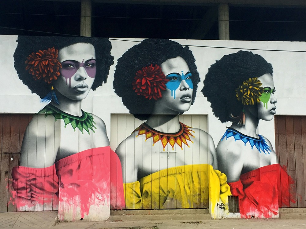 """Las Tres Guerreras"" by Fin DAC in Cartagena, Colombia"