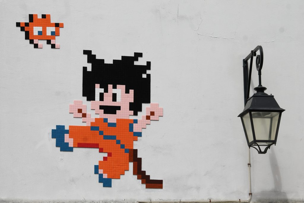 """Goku"" a new invasion by Invader in Paris"