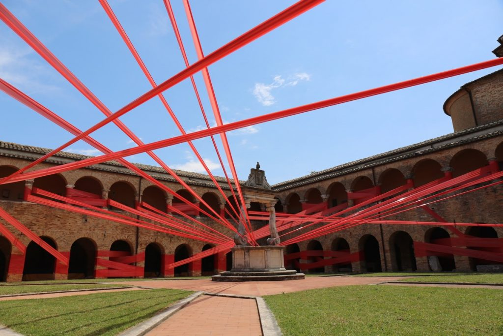 """Dehors"" an installation by Lek and Sowat in Atri, Italy"