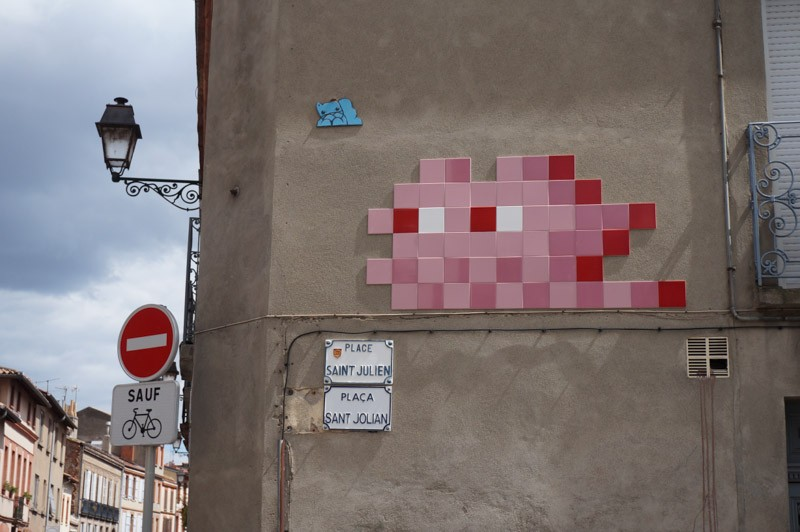 Invader invades Toulouse in France