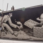 "ArtWhino: ""Chasing TigerMan"" by WAONE in Richmond"