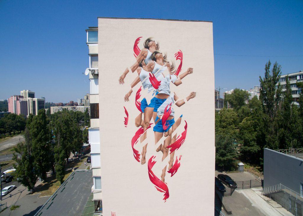 """""""Rise"""" by James Bullough in Kiev, Ukraine"""