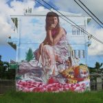 "TropicaFestival: ""Girl With Inflatable Tiger"" by Fintan Magee in Bali"