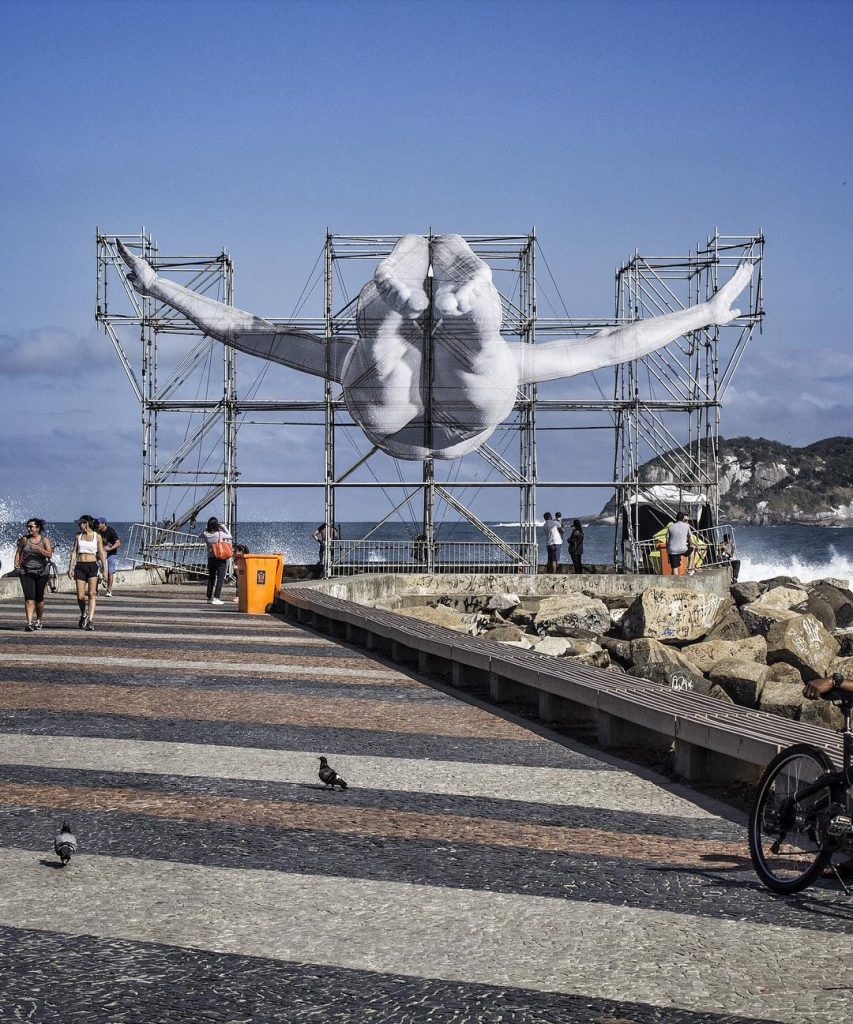 JR unveils giant athletes in Rio De Janeiro