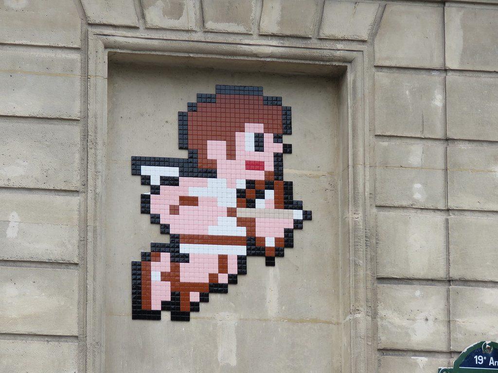"""""""Metroid & Kid Icarus"""" by Invader in Paris"""