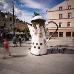 Installations by LUMP for UNIQA Art Lodz in Poland