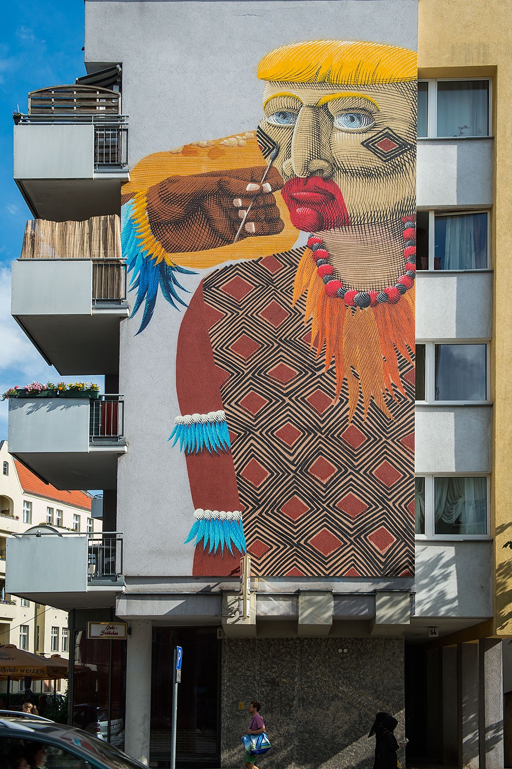 """Project M/10 """"Colors"""" curated by Instagrafite in partnership with Urban Nation, Berlin, Germany, in July 2016. #projectM #projectM10 #UrbanNation #UrbanNationBerlin #instagrafite #MuseumofUrbanAndContemporaryArt #streetart #nunca.art @urbannationberlin @instagrafite @nunca.art photo by Nika Kramer"""