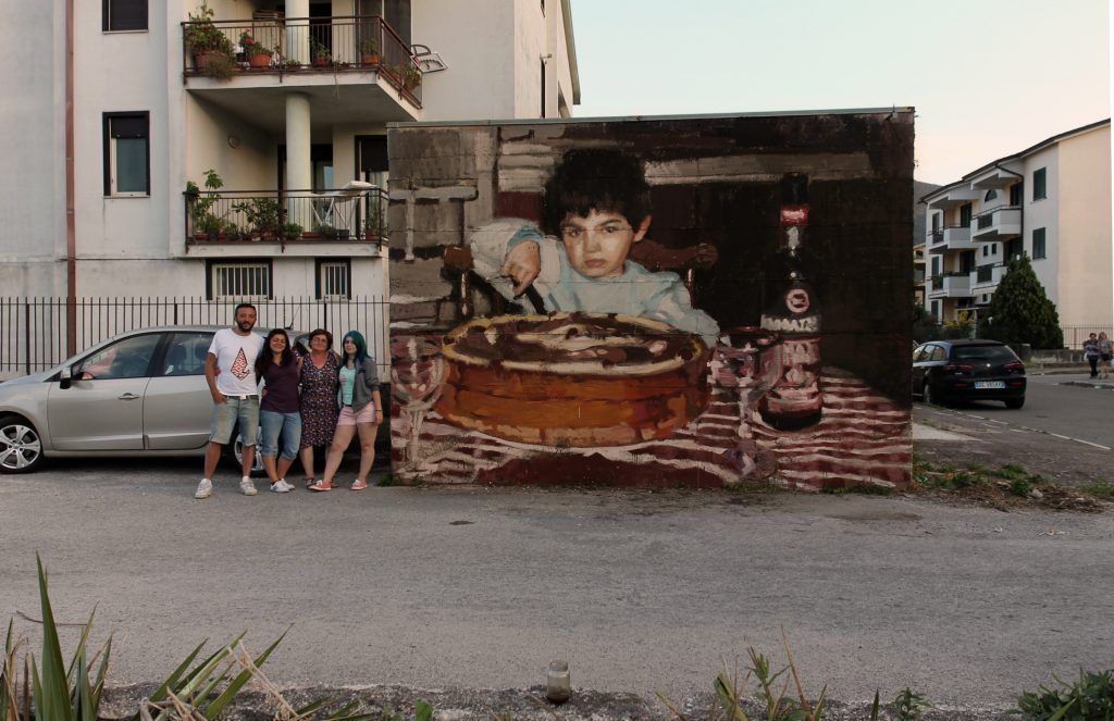 Mohamed Lghacham & Alba Trench collaborate in Airola, Italy