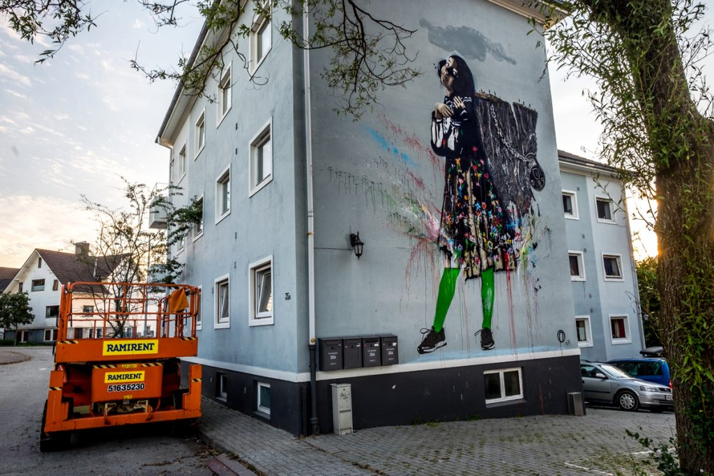 'Sofia and the Mountain' by NIMI in Stavanger, Norway