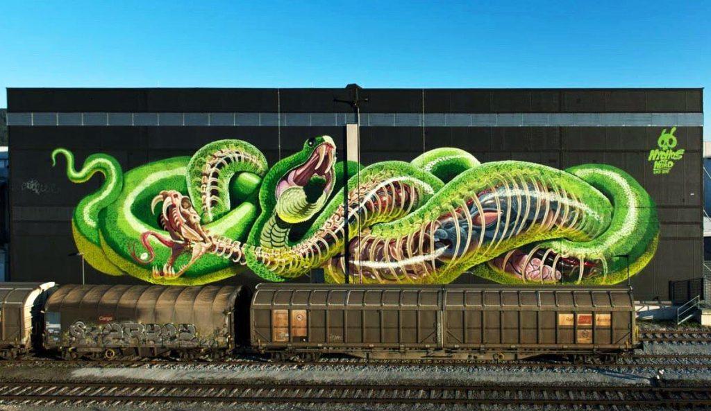 """Translucent Serpent"" by Nychos in Linz, Austria"