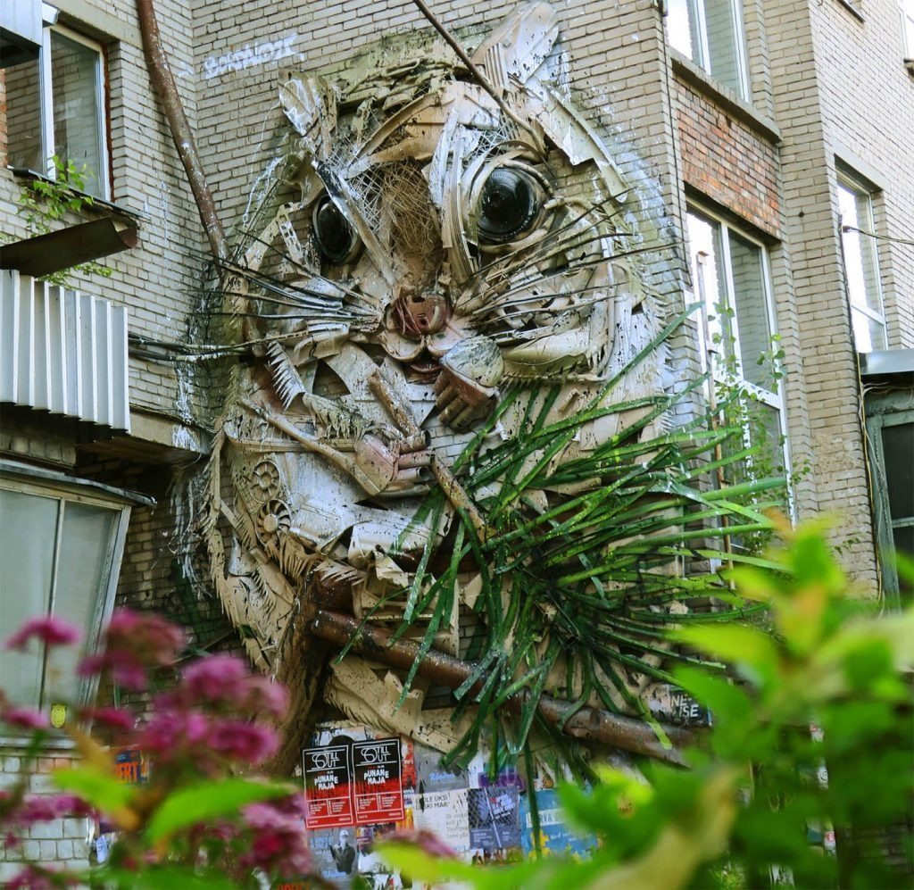 """Squirrel"" by Bordalo II in Tallinn, Estonia"
