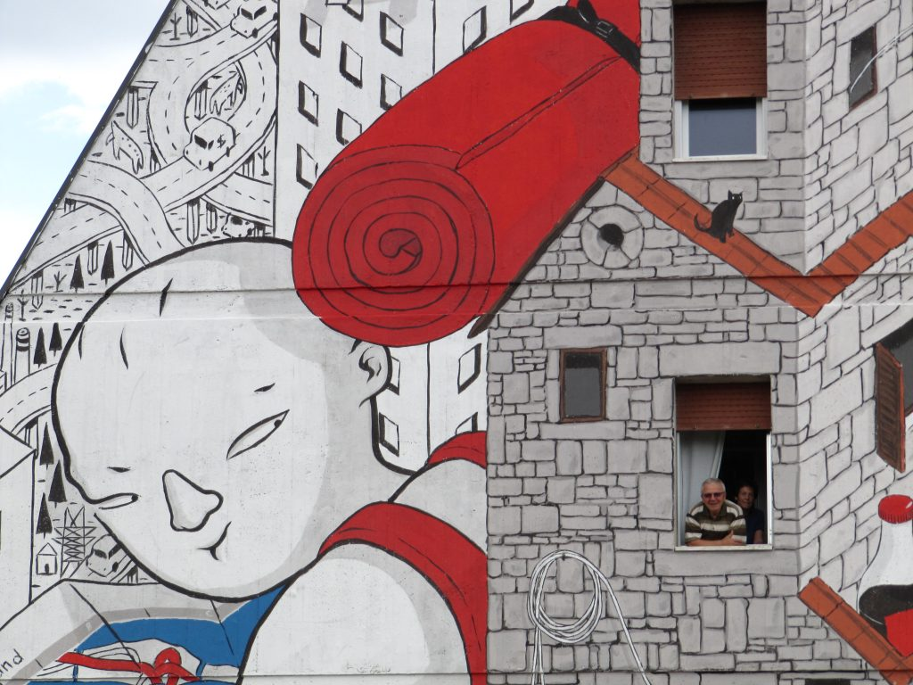 """Backpack Home"" by Millo in Ascoli Piceno, Italy"