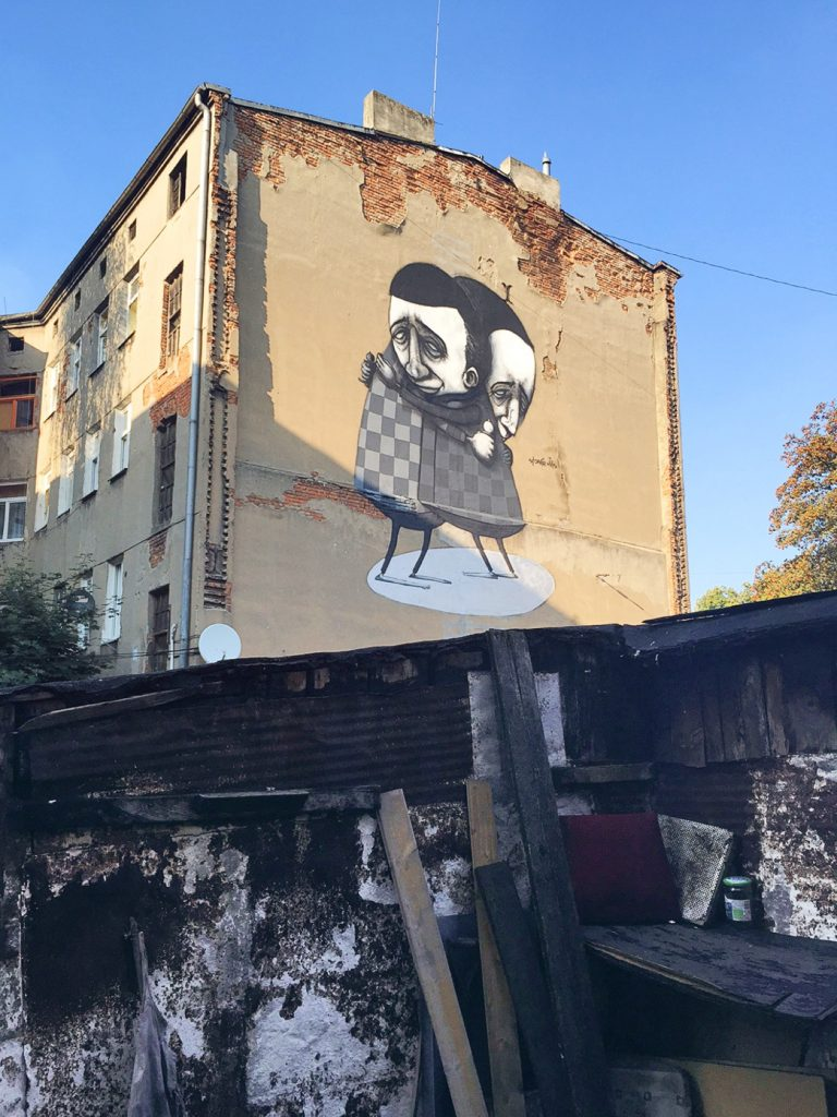 """The Thank You"" by Stormie Mills in Lodz, Poland"