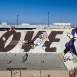 """Love Struck"" by D*Face in Los Angeles"