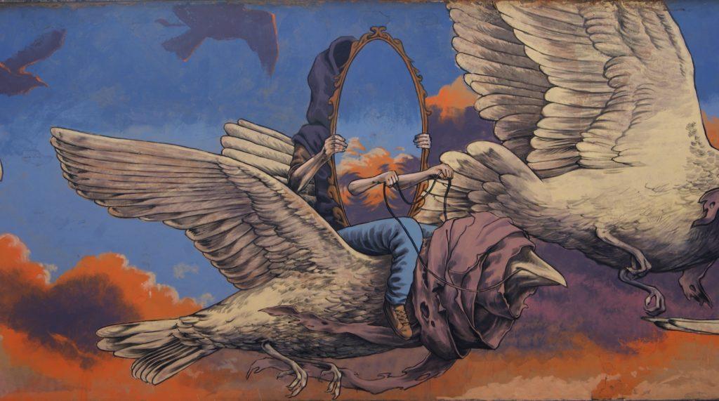 """Emigration"" by Rustam QBic in Ravenna, Italy"
