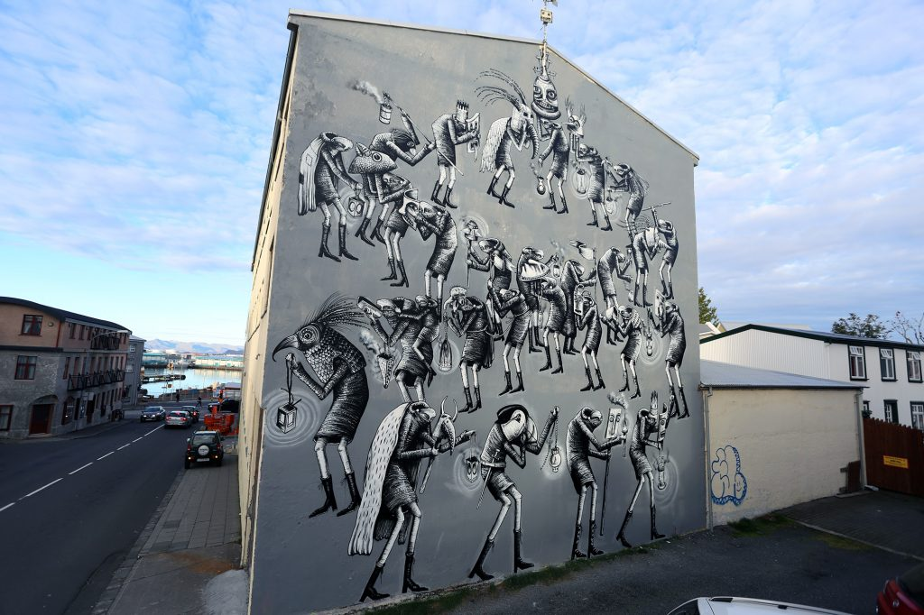 "Wall Poetry '16: ""Time To Scream And Shout"" by Phlegm in Reykjavik"
