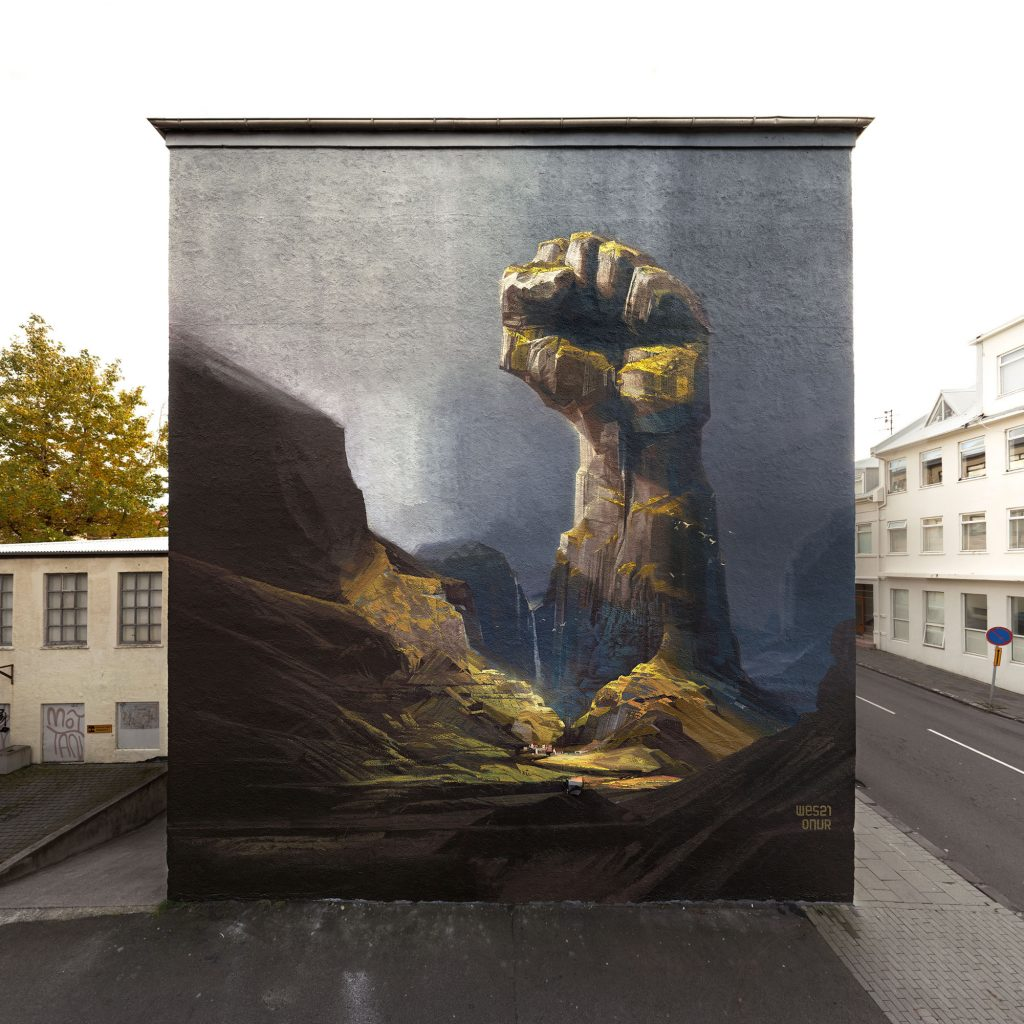 "Wall Poetry '16: ""Heavy Stones Fear No Weather"" by Onur & Wes21 in Reykjavik"