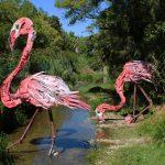 """Flamingo"" an installation by Bordalo II in Oeiras, Portugal"